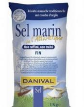 Atlanthavssalt fint Danival 1 kg/Merisuola hieno