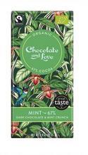 Chocolate and Love Mörk Choklad Mint 67% 80 g/Tumma Suklaa